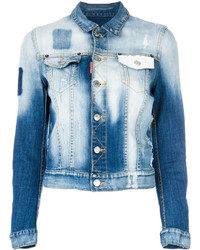 Bleached denim jacket medium 4156037