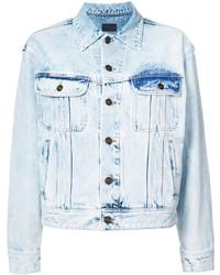 Bleached denim jacket medium 4472114