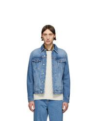 Loewe Blue Denim Anagram Jacket