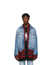 Vetements Blue Denim Anarchy Jacket