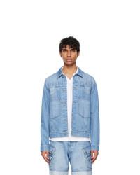 Balmain Blue Denim Deconstructed Jacket