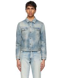 Saint Laurent Blue Denim Dirty Repair Jacket