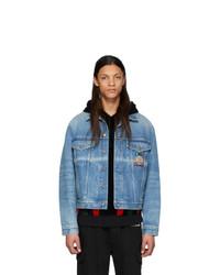 Gucci Blue Denim Embroidered Jacket