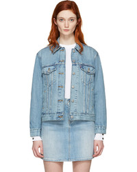 Blue denim ex boyfriend trucker jacket medium 1250225