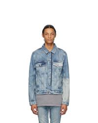 Ksubi Blue Denim Jinx Remix Classic Jacket