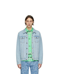 MSGM Blue Denim Logo Jacket