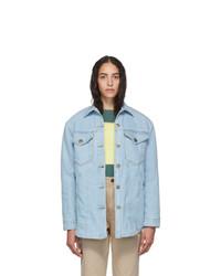 Nanushka Blue Denim Nusta Shirt Jacket