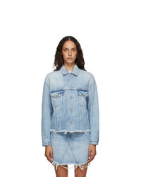 Givenchy Blue Denim Oversized Jacket