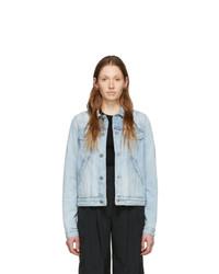 Givenchy Blue Denim Stamped Logo Regular Fit Jacket