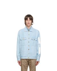 Gucci Blue Denim Vintage Logo Jacket