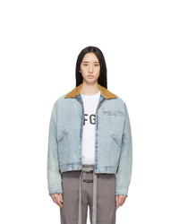 Fear Of God Blue Denim Work Jacket