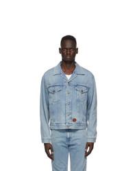 Gucci Blue Light Washed Denim Jacket