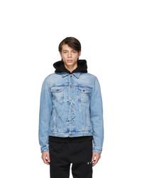 Off-White Blue Twisted Denim Jacket