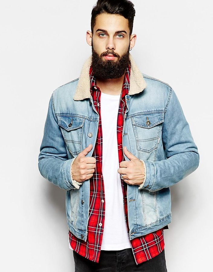 Asos Brand Denim Jacket With Borg Collar | Where to buy & how to wear