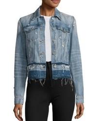 J Brand Deena Cropped Released Hem Denim Jacket