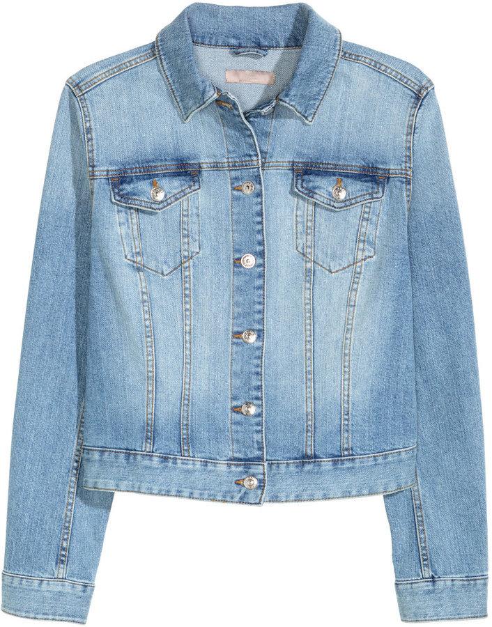 100% top quality order online size 40 $49, H&M Denim Jacket Light Denim Blue Ladies