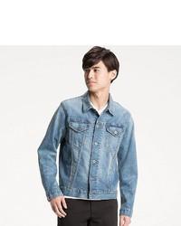 obtenir pas cher 8fd73 84d5d Men's Light Blue Denim Jackets from Uniqlo | Men's Fashion ...