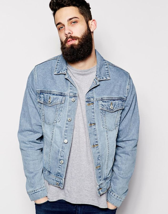 Cheap Monday Denim Jacket Staple Sky Light Wash | Where to buy ...