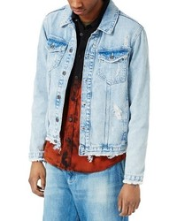 Distressed denim jacket medium 3751096
