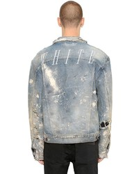 Distressed vintage painted denim jacket medium 3733884
