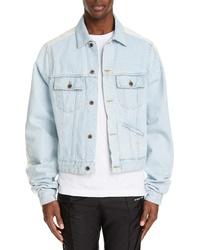 Off-White Exaggerated Sleeve Denim Jacket