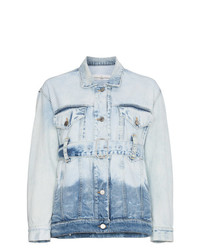Golden Goose Deluxe Brand Faded Denim Jacket With Belt