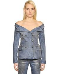 Faith Connexion Cotton Denim Sailor Jacket