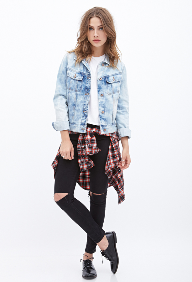 Light Blue Denim Jacket Forever 21 Bleached Denim Jacket | Where to buy u0026 how to wear