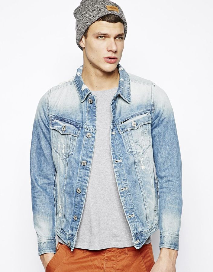 G Star Slim Denim Jacket Tailor Blue | Where to buy & how to wear
