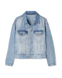 Alexander Wang Game Distressed Denim Jacket