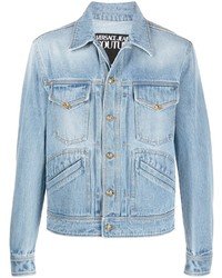VERSACE JEANS COUTURE Gold Tone Stitched Denim Jacket