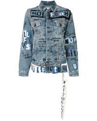 Grafitti denim jacket medium 5146034