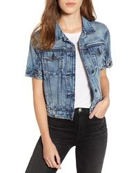Hudson Jeans Hudson Ruby Contour Short Sleeve Denim Jacket