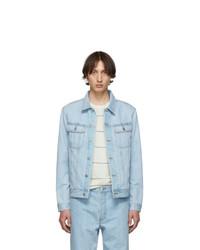 A.P.C. Indigo Denim Quilt Jacket
