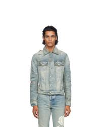 Amiri Indigo Denim Shotgun Trucker Jacket