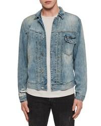 AllSaints Isidro Distressed Denim Jacket