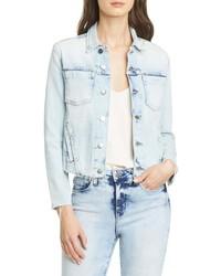 L'Agence Janelle Raw Cut Slim Denim Jacket