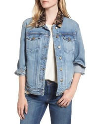 Joes denim jacket with faux fur collar medium 5262351