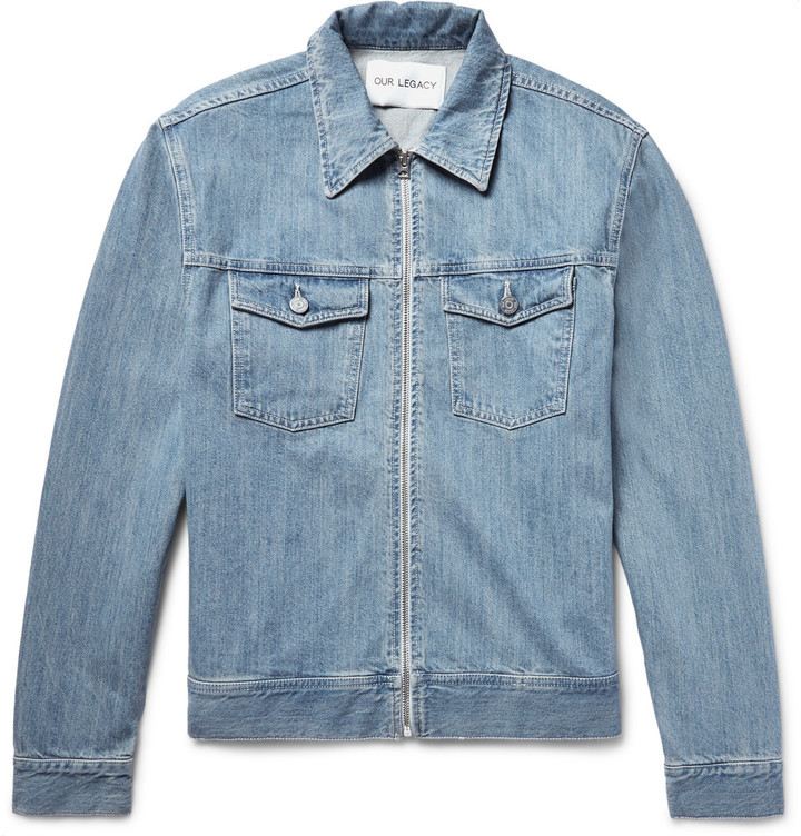 Our Legacy Lean Zip Up Denim Jacket Where To Buy How To Wear