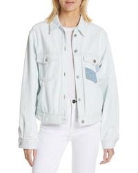 Isabel Marant Etoile Lindya Patchwork Denim Jacket