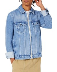 Topman Ltd Collection Denim Trucker Jacket