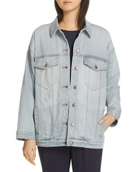 Eileen Fisher Oversize Stretch Organic Cotton Denim Jacket
