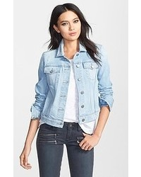 Light Blue Jean Jacket For Women - Coat Nj