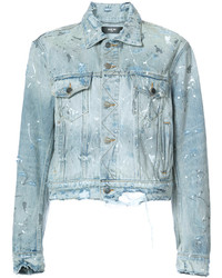 Paint splattered denim jacket medium 5276346