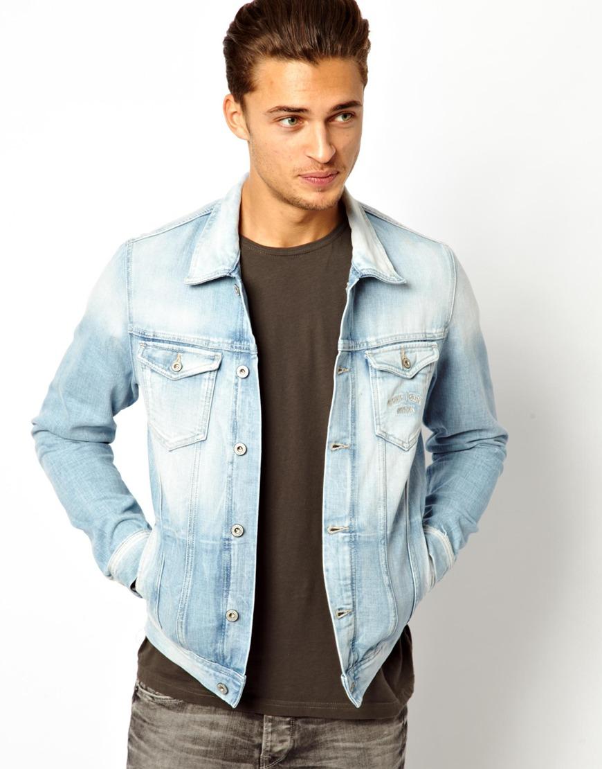 pepe jeans pepe denim jacket legend slim fit light wash. Black Bedroom Furniture Sets. Home Design Ideas