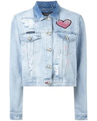 Philipp Plein Artistic Denim Jacket