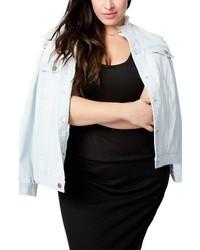 Rachel Roy Plus Size Destructed Denim Jacket