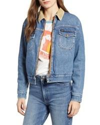 WRANGLE R Carpenter Fleece Lined Denim Jacket