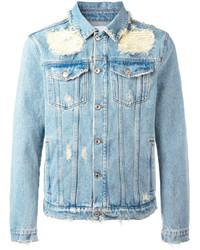 MSGM Shredded Trim Denim Jacket
