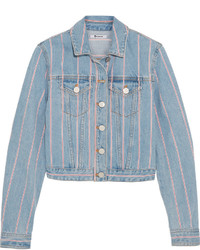 Alexander Wang T By Striped Denim Jacket